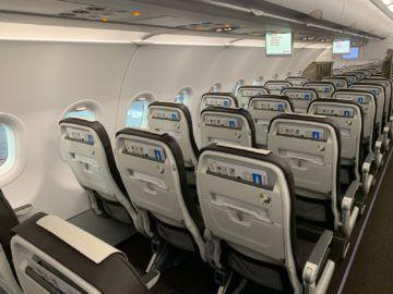 Swiss Airbus A320neo Kabine