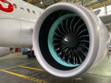 Swiss Airbus A320neo Triebwerk