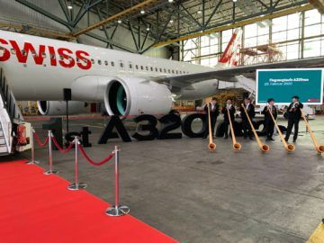 Swiss Airbus A320neo Zeremonie