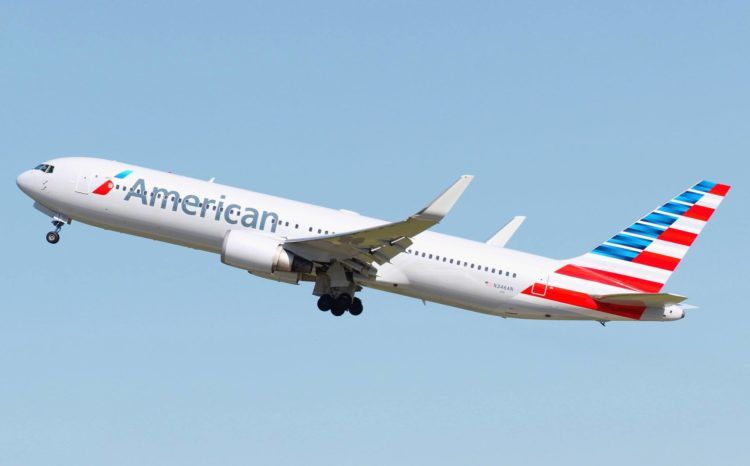 American Airlines Boeing 767 Copyright