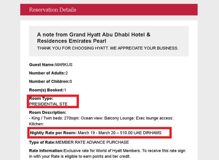 Error Fare Abu Dhabi Reservation Details