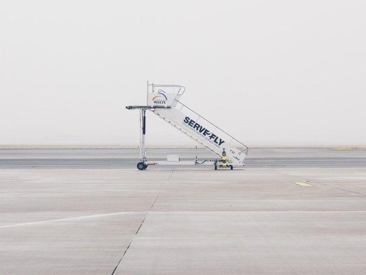 Flugzeug Treppe Weeze