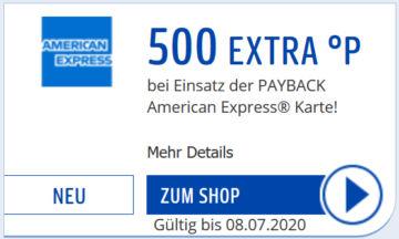 Payback Coupon Payback Kreditkarte 500 Punkte