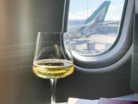 Alitalia Business Class A330 200 Predeparture Drink 3