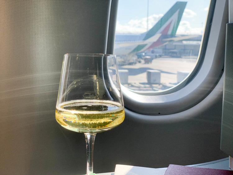 Alitalia Business Class A330 200 Predeparture Drink 3
