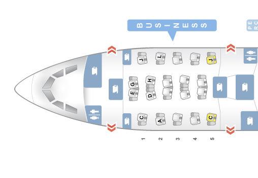 Alitalia Business Class A330 200 Seatmap Seatguru