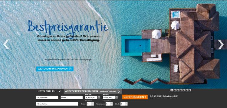 Hiltonhotels De Webseite