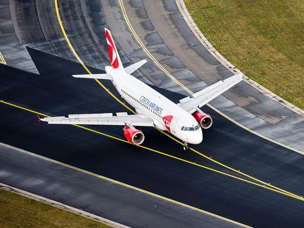 Czech Airlines Flugzeug Copyright