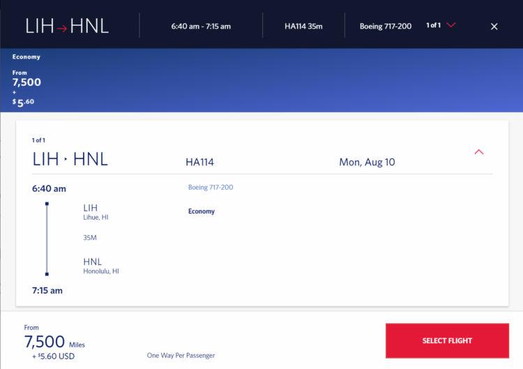 Delta Skymiles Praemienflug Hawaiian Airlines Lih Hnl