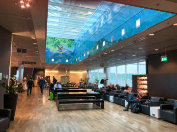Lufthansa Business Lounge G28 Muenchen Blick Lounge