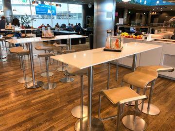 Lufthansa Business Lounge G28 Muenchen Hohe Tische
