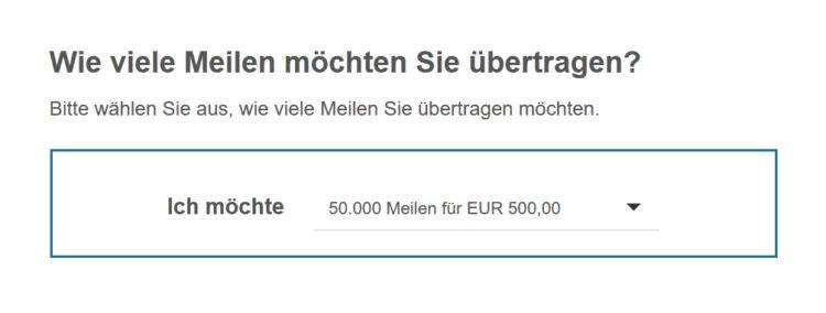 Miles And More Meilen Uebertragen Transfermaske