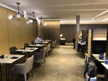 United Polaris Lounge Chicago Dining Area