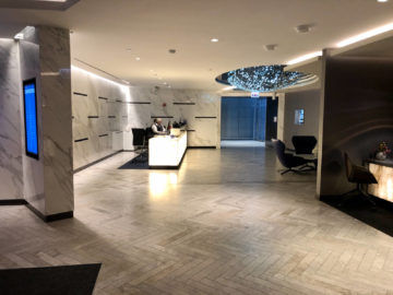 United Polaris Lounge Chicago Eingangsbereich Lounge