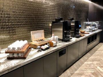 United Polaris Lounge Chicago Kaffee Teebar