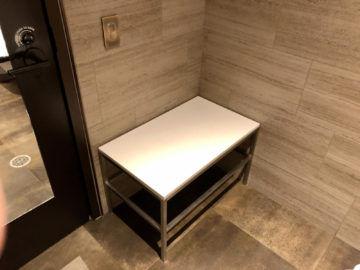 United Polaris Lounge Chicago Kofferablage