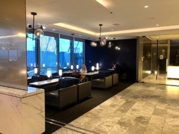 United Polaris Lounge Chicago Sitzbereich Essen