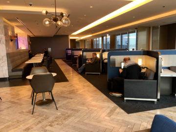 United Polaris Lounge Chicago Sitzecken