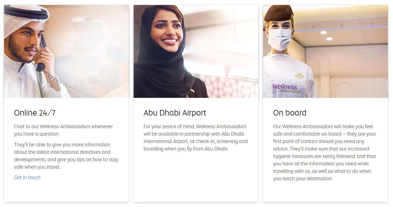 Etihad stellt Wellness Ambassadors vor