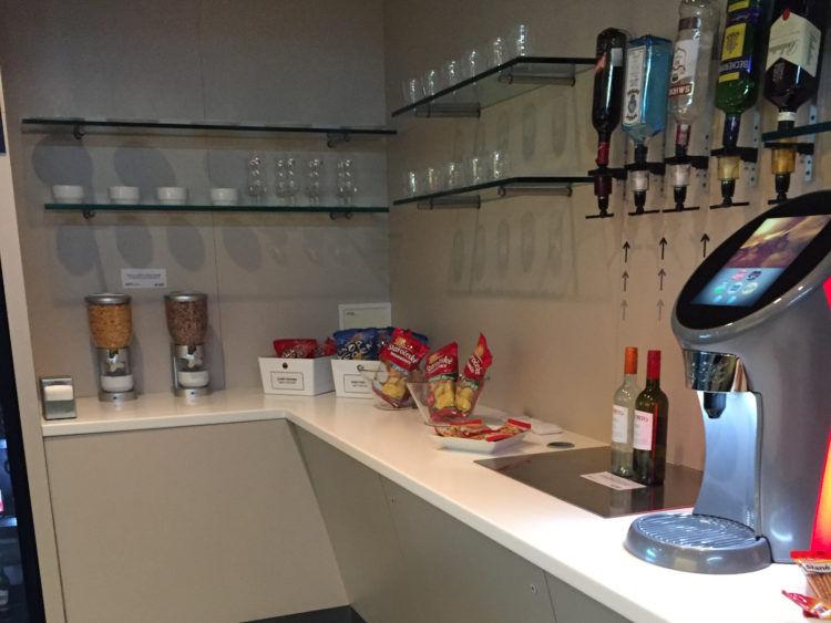 Flughafen Prag Erste Premier Lounge Snacks