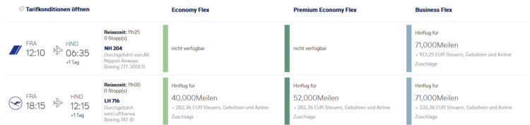 Miles And More Praemienflug Lufthansa Ana Business Class Frankfurt Tokio