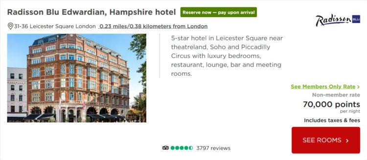 Radisson Blue Hotel Edwardian London