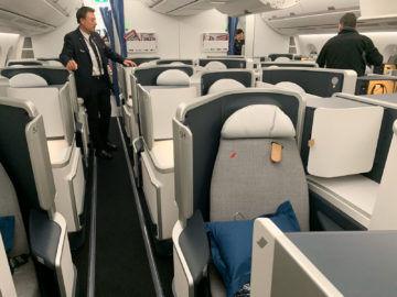 Air France Business Class A350 900 Kabine 2