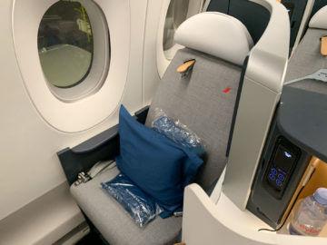 Air France Business Class A350 900 Sitz Fenster 1