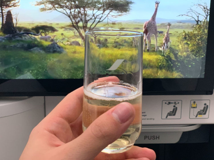 Air France Business Class Predeparture Drink
