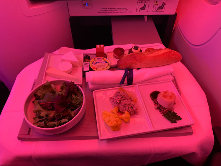 Air France Business Class Vorspeise 1