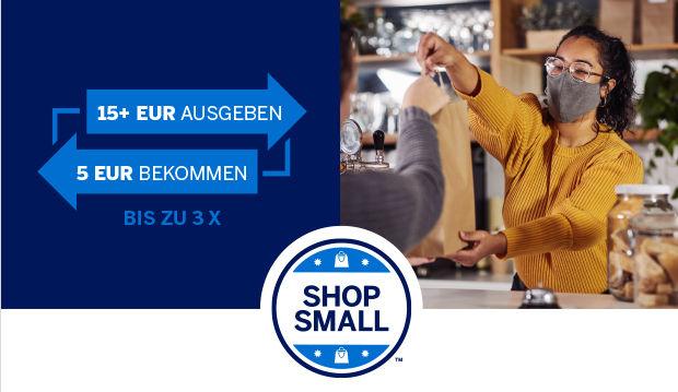 Amex Shop Small Aktion: Bis zu 10€ Gutschrift meilenoptimieren