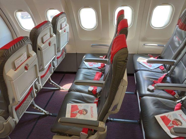 Austrian Airlines A319 Business Class Sitze