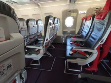Austrian Airlines A320 Notausgang