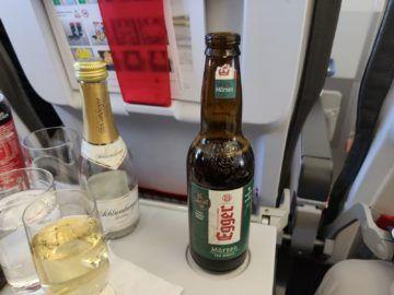 Austrian Airlines Business Class Egger Bier