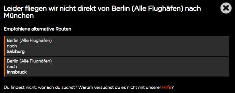 Fehlermeldung Easyjet Website Innerdeutsche Fluege