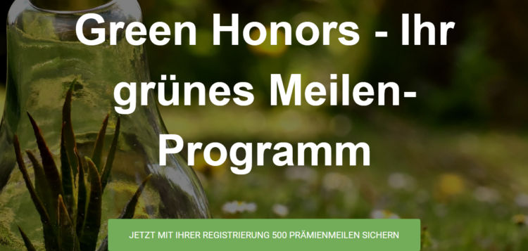Green Airlines Meilenprogramm Green Honors