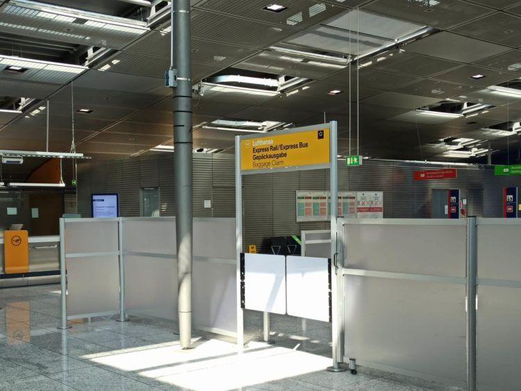 Lufthansa Express Rail Gepaeckausgabe Frankfurt