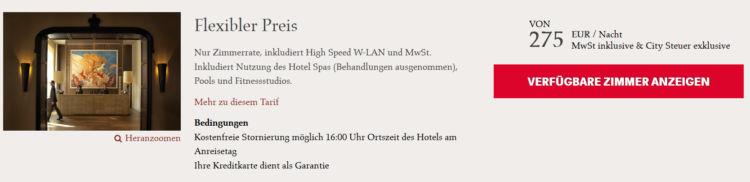 Rocco Forte Villa Kennedy Frankfurt Flexibler Preis