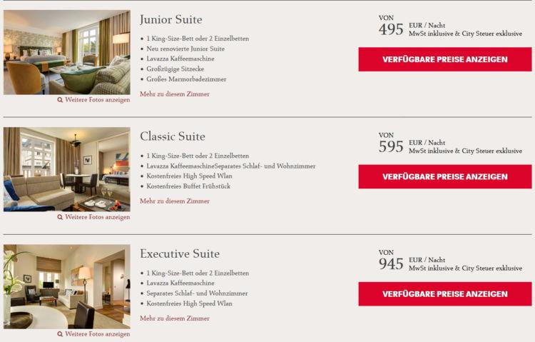 Rocco Forte Villa Kennedy Frankfurt Suiten Preise 2