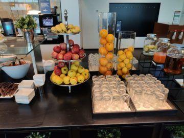 Sky Lounge Wien Schengen Buffet Obst