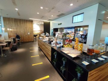 Sky Lounge Wien Schengen Buffet überblick