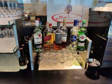 Sky Lounge Wien Schengen Spirituosen