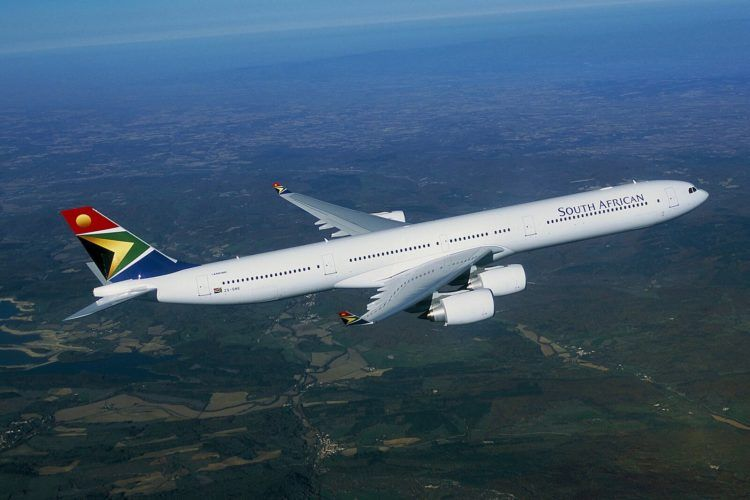 South African Airbus A340 600 Copyright