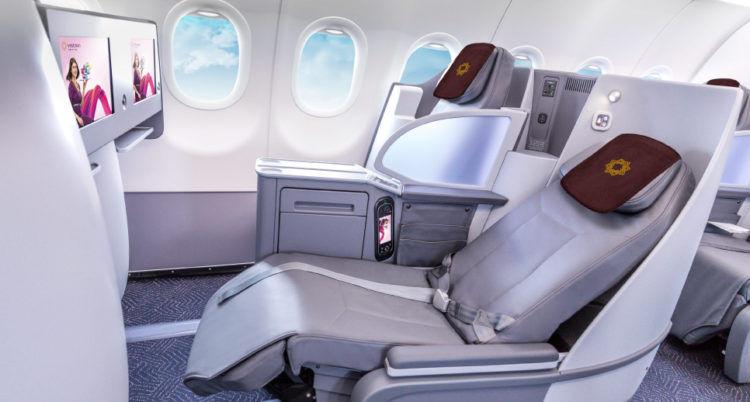 Vistara Business Class im A321neo mit Lie Flat Seat