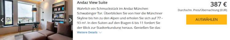 World Hyatt Buchung Andaz Munich Andaz View Suite Euro