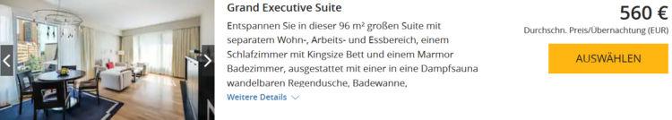World Hyatt Buchung Grand Hyatt Berlin Grand Executive Suite Euro