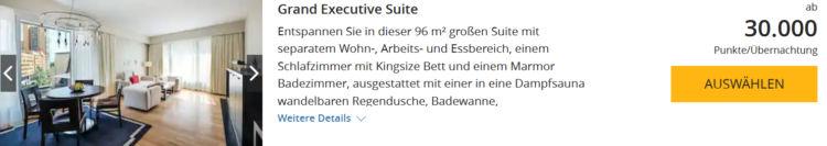 World Hyatt Buchung Grand Hyatt Berlin Grand Executive Suite Punkte
