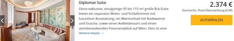 World Hyatt Buchung Park Hyatt Wien Diplomat Suite Euro