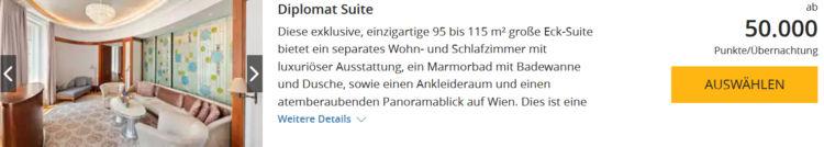 World Hyatt Buchung Park Hyatt Wien Diplomat Suite Punkte