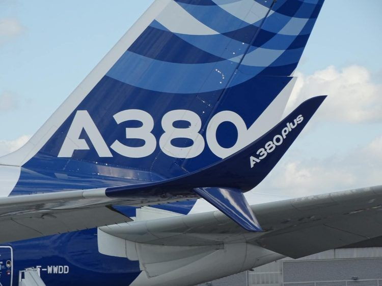 Airbus A380 Plus Scimitar Winglets